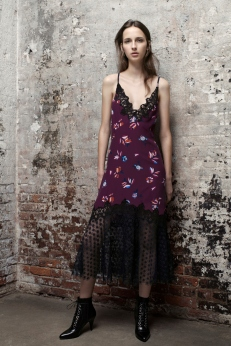 Rebecca Taylor Floral Silk and Lace Camisole Dress