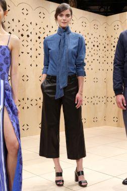 Mandatory Credit: Photo by Robert Mitra/WWD/REX/Shutterstock (5895509k) Model Banana Republic presentation, Spring Summer 2017, New York Fashion Week, USA - 10 Sep 2016