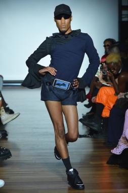 Mandatory Credit: Photo by Andrea Hanks/WWD/REX/Shutterstock (5897010bc) Model on the catwalk Luar show, Runway, Spring Summer 2017, New York Fashion Week, USA - 14 Sep 2016