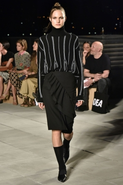 Mandatory Credit: Photo by Rodin Banica/WWD/REX/Shutterstock (5893876ae) Model on the catwalk Thakoon show, Runway, Spring Summer 2017, New York Fashion Week, USA - 08 Sep 2016