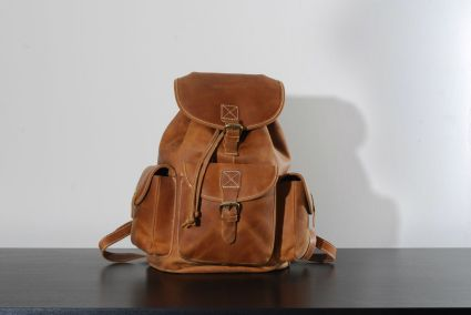 Kurtis Paul Darwin leather backpack